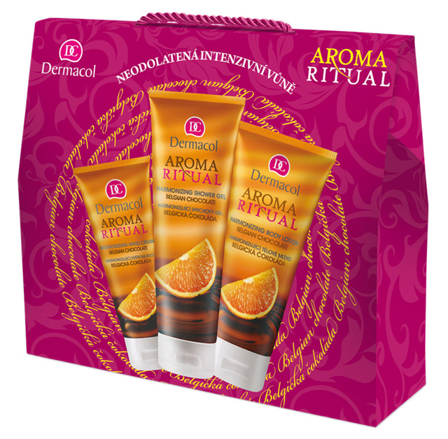 Aroma Ritual gift package with Belgian chocolate